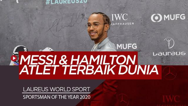 Berita Video Lionel Messi dan Lewis Hamilton menangi Laureus World Sports Awards 2020