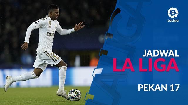 Berita video jadwal La Liga 2019-2020 pekan ke-17. Real Madrid bertandang ke markas Valencia.