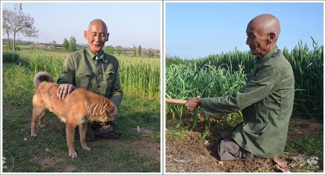 Kakek Xi tak pernah patah semangat dengan hidupnya yang kurang sempurna   Photo: Copyright shanghaiist.com