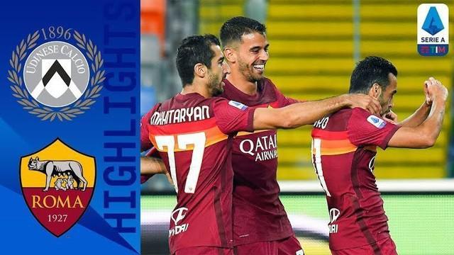 Berita video Pedro Rodriguez mencetak gol fantastis saat AS Roma menang 1-0 atas Udinese pada pekan ketiga Liga Italia 2020/2021, Minggu (4/10/2020) dinihari WIB.