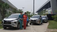 Mitsubishi Xpander resmi menjadi kendaraan operasional awak kabin Garuda Indonesia. (Arief/Liputan6.com)