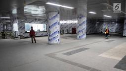 Penampakan Stasiun Mass Rapid Transit (MRT) Bundaran HI, Jakarta, Senin (10/12). (Liputan6.com/Faizal Fanani)