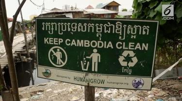 Krisis sampah plastik turut mencengkram Kamboja. Sebanyak 10 juta kantong plastik digunakan setiap harinya.
