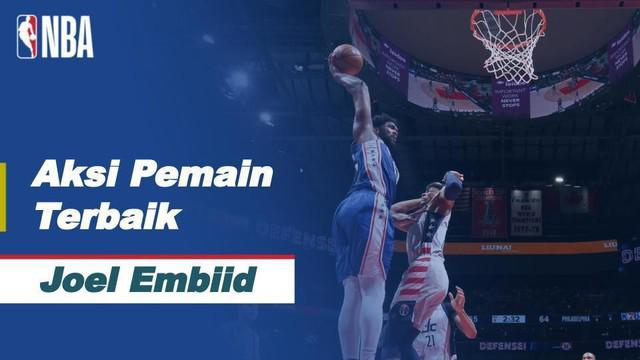 Berita video bintang Philadelphia 76ers, Joel Embiid, mencetak 36 poin dalam laga game 3 NBA Playoffs hari ini, Minggu (30/5/2021) WIB.