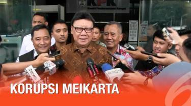 Mengari Tjahjo membantah memberikan instruksi khusus terkait pemberian izin proyek Meikarta. Mendagri juga mengaku tidak pernah bertemu Bupati Bekasi