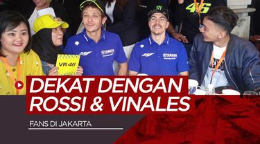 Berita video dua pembalap Monster Energy Yamaha, Valentino Rossi dan Maverick Vinales, menyapa 100 fans di Jakarta pada Selasa (4/2/2020).