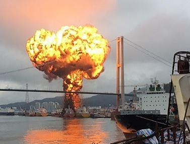 Kapal Kargo Meledak di Korea Selatan, 9 Pelaut Terluka