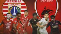 Piala Menpora - Duel Gelandang Persija Jakarta Vs PSM Makassar (Bola.com/Adreanus TItus)