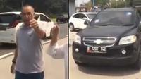 Seorang pengemudi Chevrolet Captiva hitam tanpa alasan yang jelas memukul anak SMP yang berusia 14 tahun (Otosia.com)