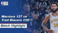Berita Video Highlights NBA 2019-2020, Golden State Warriors Vs Portland Trail Blazers 127-118