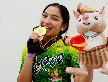 Foto: Pesona Dhinda Salsabila, Atlet Cantik Papua Peraih Medali Emas PON 2021