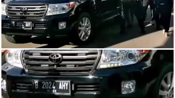 Makna di Balik Plat Nomor B 2024 AHY Milik Agus Yudhoyono (Foto: Dok Tim Kogasma)