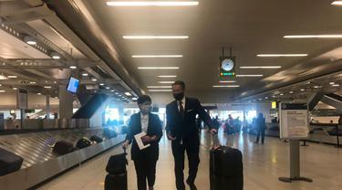 Menlu Retno Marsudi tiba di New York pada Rabu (19/5) untuk menghadiri Majelis Umum PBB yang akan membahas isu Palestina.