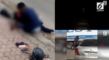 Video HIT hari ini datang dari pria menangis histeris karena kekasihnya tewas, motor yang terseret truk, dan anak-anak mengejar wanita berbaju putih