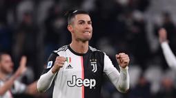 Ronaldo sendiri telah kembali menunjukkan kesuburannya bersama Juventus pada musim ini. Pemain asal Portugal itu mencetak 14 gol dari 16 penampilan di Serie A dan dua gol lainnya di Liga Champions. (AFP/Marco Bertorello)