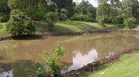 Telago Rajo, sebuah telaga kuno yang ada di komplek Candi Muarojambi. (Liputan6.com/Bangun Santoso)