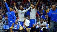 Golden State Warriors rayakan kemenangan (Reuters/Liputan6.com)