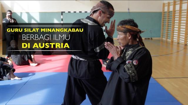 Video guru silat Minangkabau, Haji Sofyan Nadar, berbagi ilmu kepada beberapa murid di Austria.