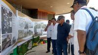 Menteri PUPR Basuki Hadimuljono meninjau kawasan industri kreatif (creative hub) Puncak Waringin, Labuan Bajo, NTT.