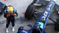 Pebalap Indonesia Sean Gelael kembali kehilangan peluang mendapatkan poin pada balapan Sprint Formula 2 yang berlangsung di Bahrain, Minggu (29/11/2020). (Ist)