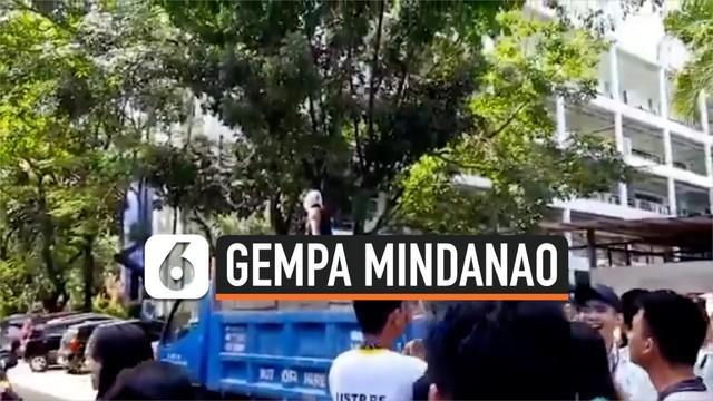 Gempa magnitudo 6,6 mengguncang Mindanao, Filipina Selatan. Dua minggu lalu di kawasan yang sama juga terjadi gempa dengan magnitudo 6,4.