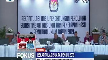 KPU merekapitulasi hasil suara dari Provinsi Bengkulu, Kalimantan Selatan dan Kalimantan Barat.