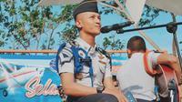 Aldhi Rahman yang sedang menempuh pendidikan pilot.