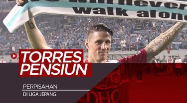 Berita video momen perpisahan Fernando Torres yang menandakan dirinya pensiun sebagai pesepak bola profesional berlangsung mengharukan di Liga Jepang, Jumat (23/8/2019).
