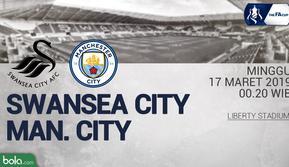 FA Cup - Swansea City Vs Manchester City (Bola.com/Adreanus Titus)