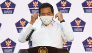 Juru Bicara Satgas Penanganan COVID-19 Wiku Adisasmito sampaikan tes spesimen pada September 2020 sudah mencapai 40.000 secara nasional saat konferensi pers di Kantor Presiden, Jakarta, Selasa (22/9/2020). (Biro Pers Sekretariat Presiden/Rusman)