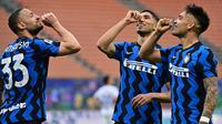 Inter Milan pesta juara dan juga gol lawan Sampdoria pada lanjutan Liga Italia (AFP)