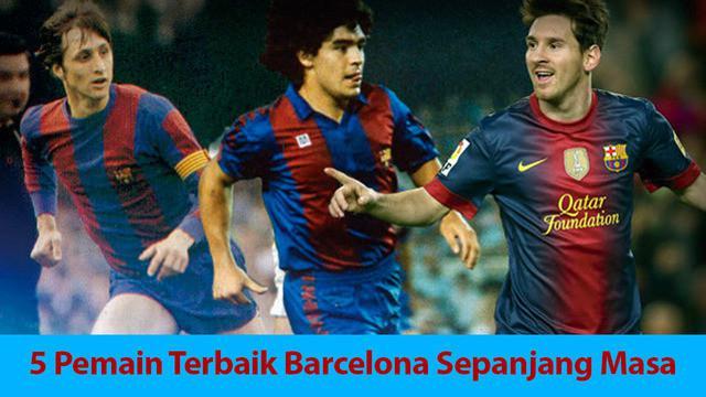 Video lima pemain terbaik yang pernah di miliki Barcelona, salah satunya Johan Cruyff Legenda asal Belanda.
