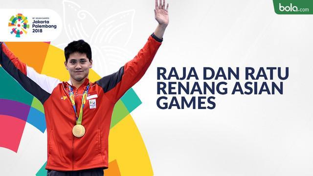 Berita video raja dan ratu renang Asian Games di berbagai nomor perseorangan.