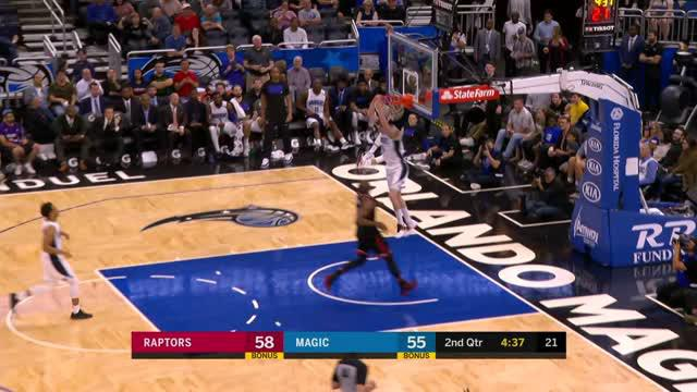 Berita video game recap NBA 2017-2018 antara Toronto Raptors melawan Orlando Magic dengan skor 117-104.