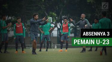 Berita video Timnas Indonesia U-23 menggelar latihan perdana dalam pemusatan latihan jelang laga uji coba internasional kontra Singapura, Rabu (21/3/2018). Pada latihan perdana itu yang belum memenuhi panggilan adalah duo Selangor FA, Evan Dimas dan ...