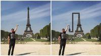 Foto Pria Ini Salah Angle, Hasil Photoshopnya Malah Bikin Ngakak (sumber:Facebook/Kementrian Humor Indonesia)