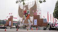 Replika Garuda Pancasila Setinggi 17 Meter. Dok: Extramarks Indonesia