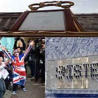 Momen kebahagian warga Inggris, saat menyambut kelahiran bayi perempuan Kate Middleton.