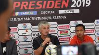 Pelatih Ivan Kolev menyebut belum memutuskan siapa pemain Persija Jakarta yang akan disiapkan dalam laga melawan PSS Sleman. (Khairul Imam/Persija Jakarta)