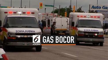 Sebuah hotel mengalami kebocoran gas monoksida. Akibatnya 15 orang kritis, puluhan lainnya terluka akibat mencium bau gas.
