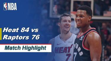 Berita Video Highlights NBA 2019-2020, Miami Heat Vs Toronto Raptors 84-76