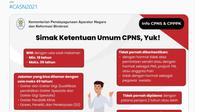 Infografis Syarat Pendaftaran CPNS 2021. Dok Twitter resmi @kempanrb