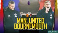 Premier League - Manchester United Vs AFC Bournemouth - Head to Head Pelatih (Bola.com/Adreanus Titus)