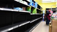 Tak ada tisu toilet di supermarket Taiwan. (AFP)