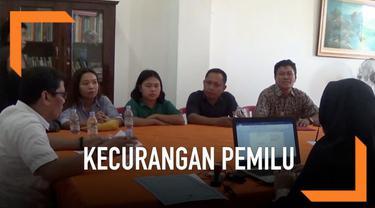 Warga Pinrang melaporkan adanya dugaan kecurangan dalam pelaksanaan pemilu. Salah satunya dengan adanya orang yang sudah meninggal terdaftar ikut DPT dan ikut mencoblos.