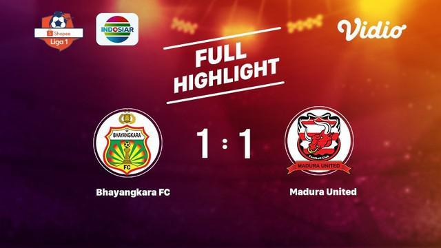 Laga lanjutan Shopee Liga 1, Bhayangkara FC vs Madura United berakhir dengan skor 1-1 #shopeeliga1