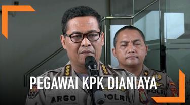 Polisi berhasil menemukan rekaman CCTV penganiayaan pegawai KPK.
