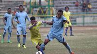 Lucky Wahyu, klubnya Persela Lamongan jadi jualan memancing animo penonton di penyisihan Grup C Piala Jenderal Sudirman. (Bola.com/Zaidan Nazarul)
