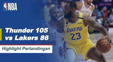 Berita Video Highlights NBA, LA Lakers Ditumbangkan Oleh Oklahoma City Thunder