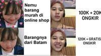 Meme mahal ongkos kirim (Sumber: 1cak.com/Instagram/gabut.pipel_indonesia)